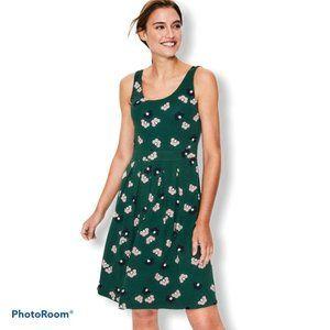 NEW Boden Joanna Ponte Dress Woodland Green Daisy